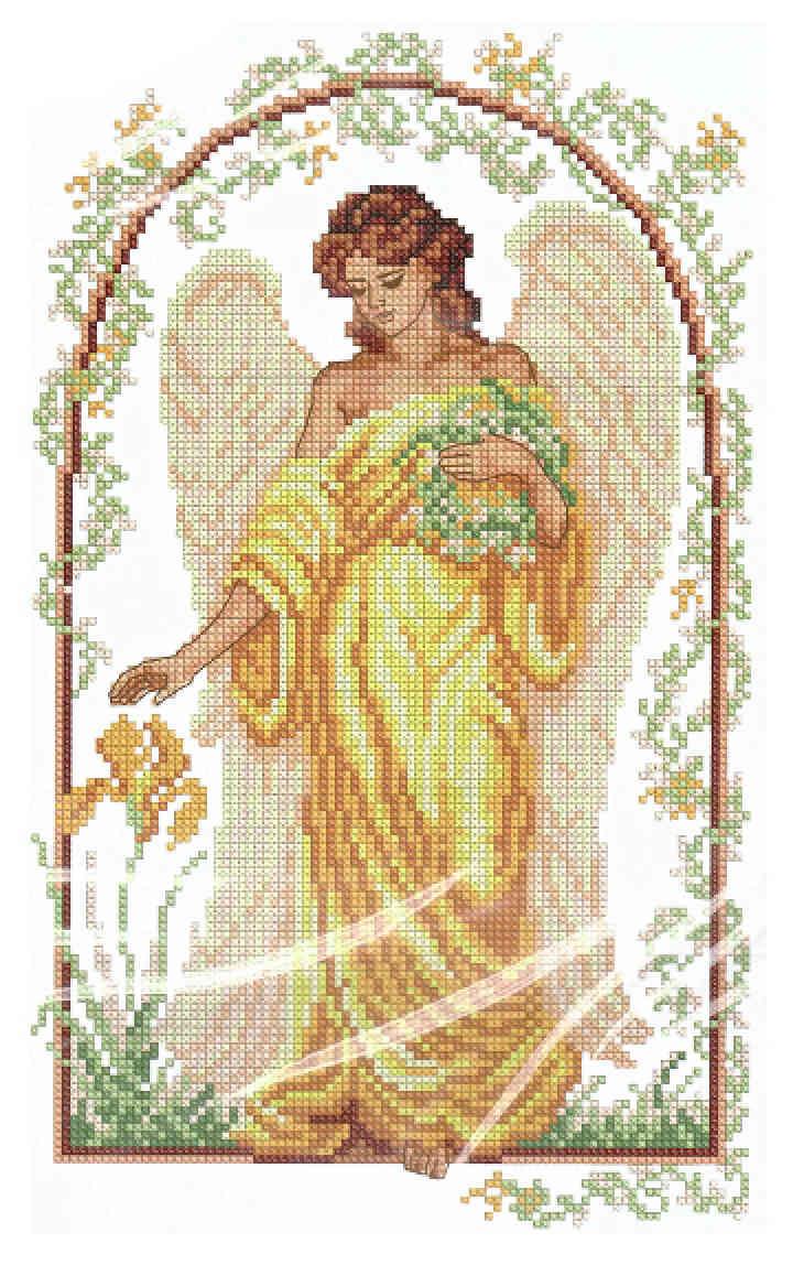 Набор вышивания крестом ангел