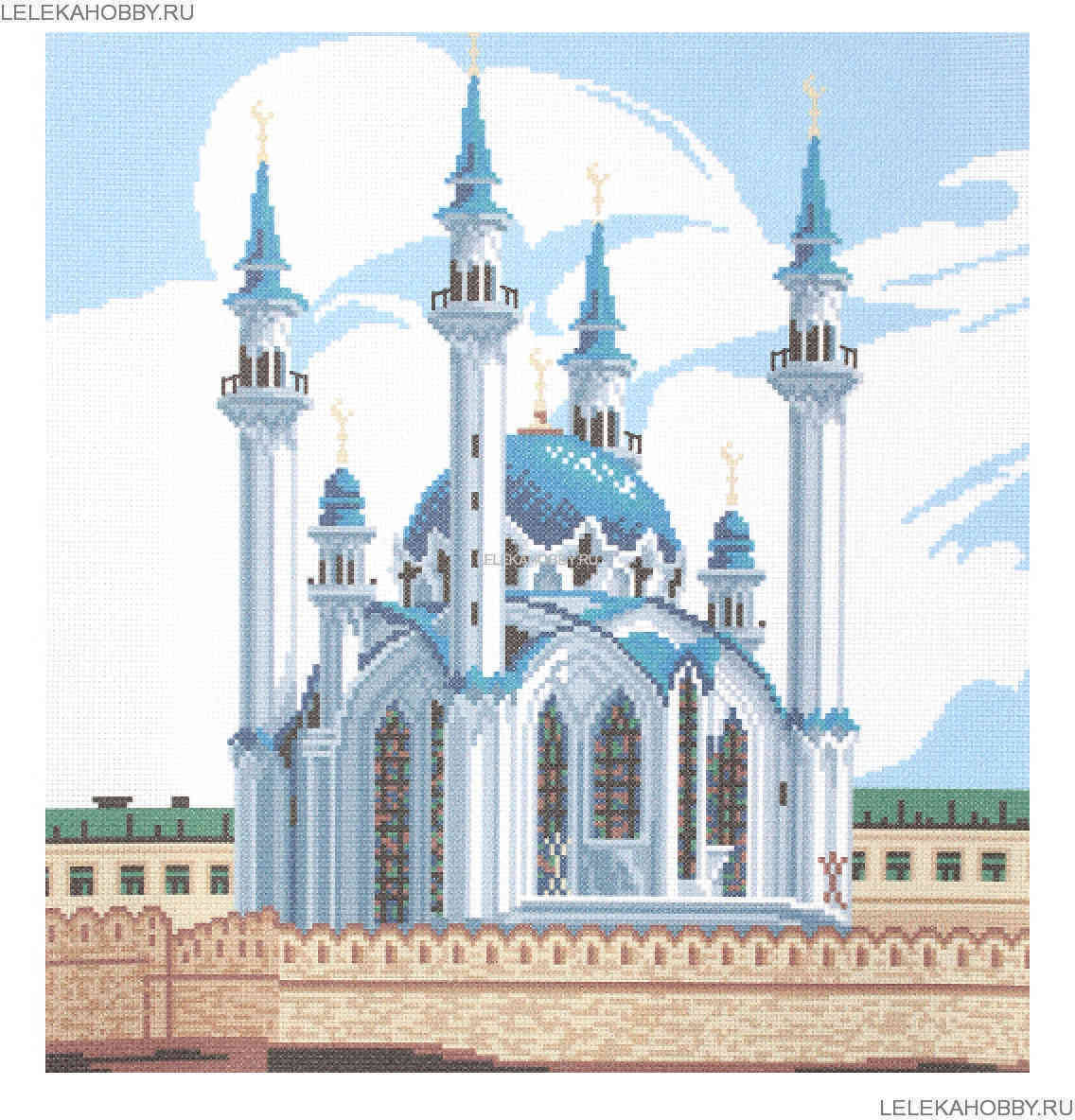 Казанская мечеть схема вышивки