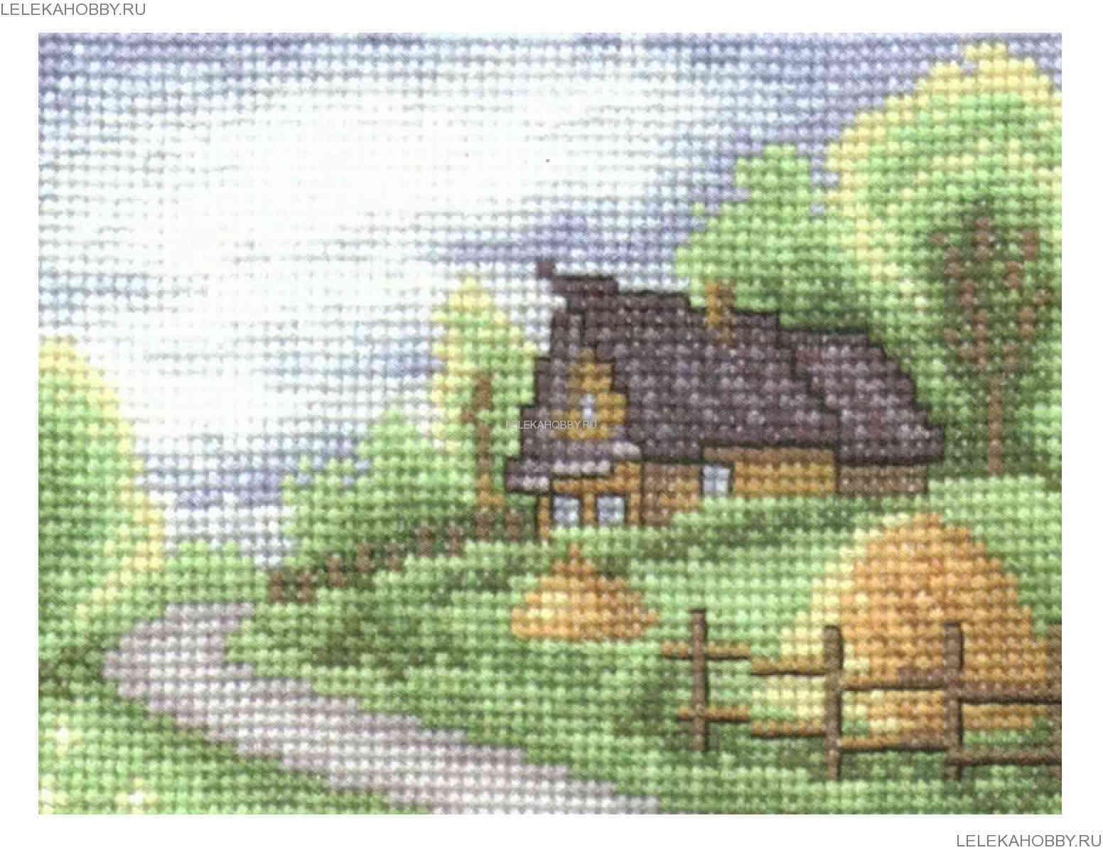 панна схемы вышивки домик