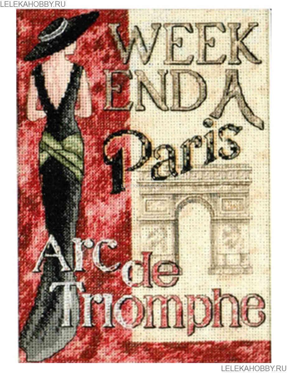 схема вышивки рынок в париже