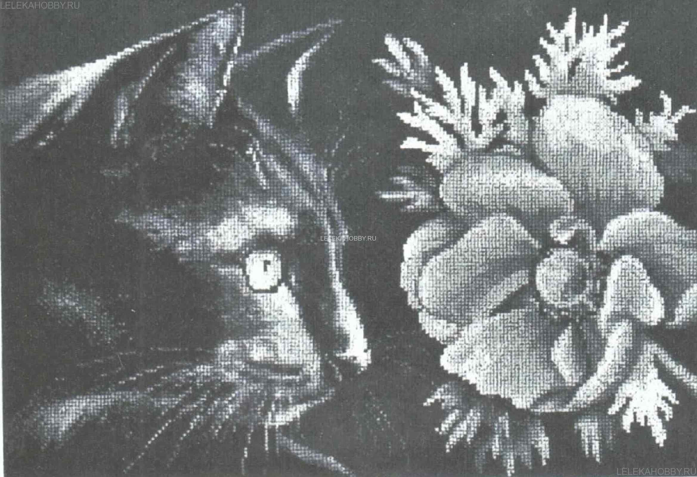 Вышивки схемы на черной канве 19